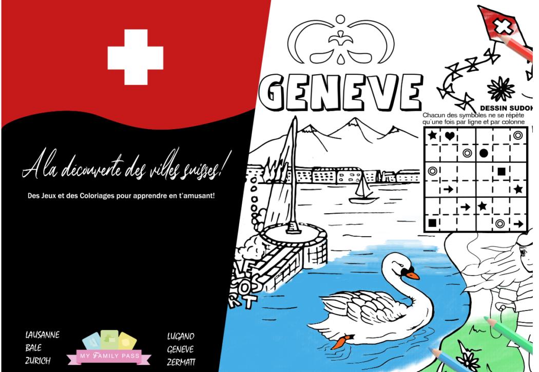 Set de coloriage des villes suisses