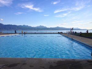Pour vous rafraîchir: la piscine de Pully Plage