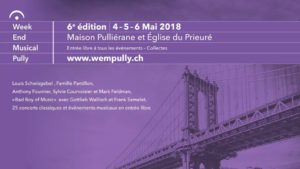 Week-end musical de Pully,  du 4 au 6 mai